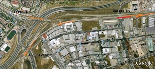 Maniobra de inversión de marcha realizada en la estación de Vallecas