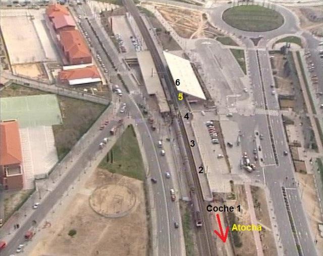 Situación en la que quedó el tren tras el atentado