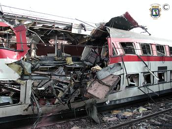 El coche 5 tras el atentado