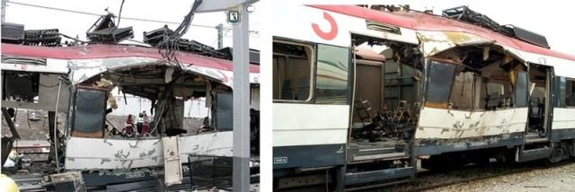 A la izquierda, el coche 4 en Santa Eugenia, a la derecha en Vicálvaro