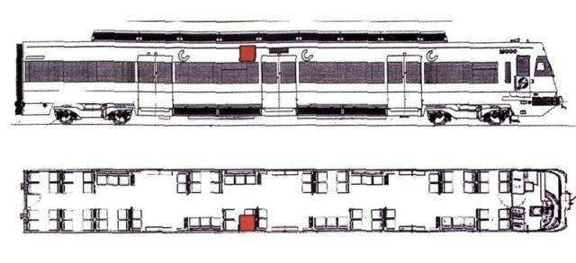 Ubicación de la bomba en el tren de Santa Eugenia según el informe pericial conjunto