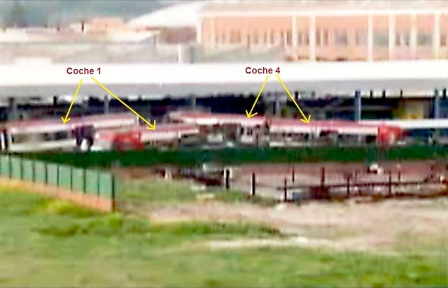 Identificación de los medios coches en la foto extraída del video