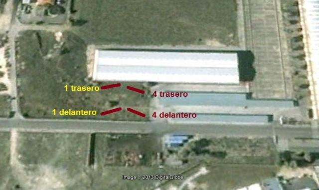 Ubicación de los medios coches depositados en el taller de Villaverde