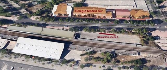 El aparcamiento de El Pozo frente al colegio Madrid Sur
