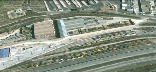 La zona de Santa Catalina en la que se depositó el tren de Atocha, tal y como estaba en 2004