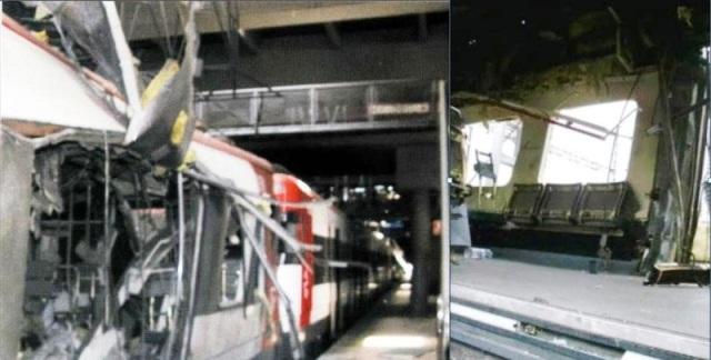 Comparación del estado del coche 4 entre Atocha y el traslado a Santa Catalina