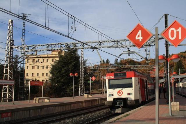 La composición final del tren de El Pozo en Cercedilla, el 18 de noviembre de 2008