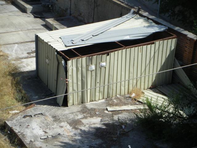 El 9 de julio habían desaparecido los precintos de la entrada al cobertizo