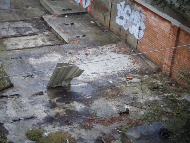 Los restos del cobertizo el 25 de octubre