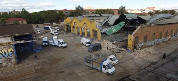 """Publicada en """"20 minutos"""". Gran actividad de derribo de instalaciones  y cargue de vehículos el 29 de octubre"""