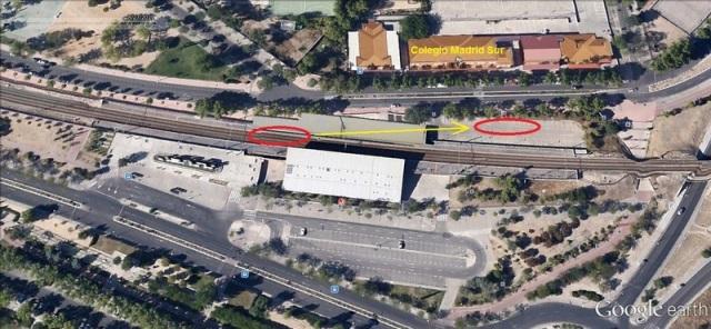 Traslado del coche 5, dejándolo frente al colegio Madrid Sur