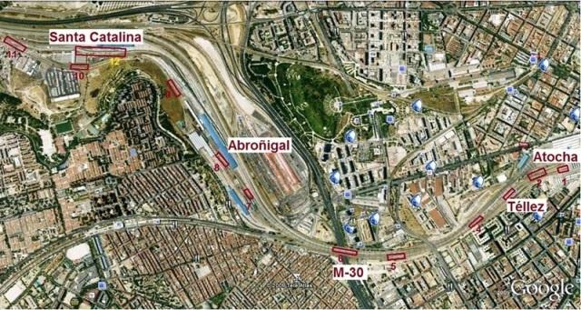Detalle del recorrido entre Atocha y Santa Catalina