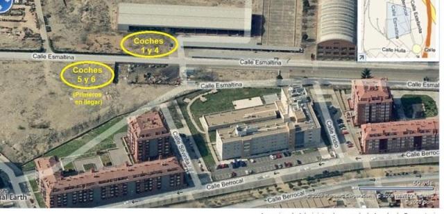 Lugares del taller de Renfe en Villaverde Bajo a los que se trasladaron los coches explotados en Téllez