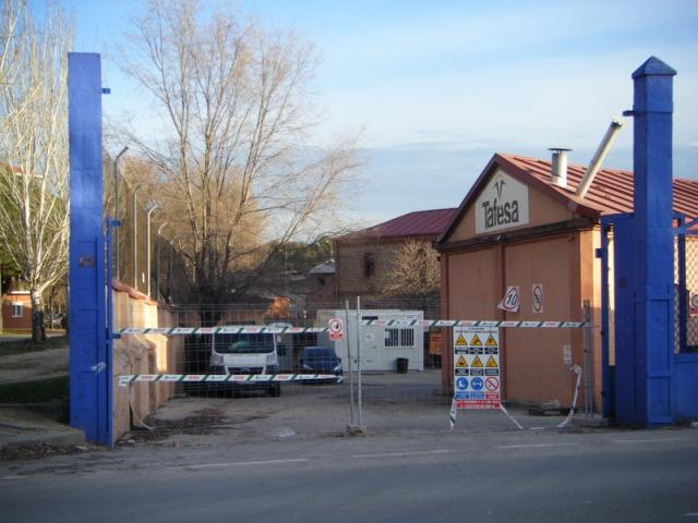 La entrada a los talleres el 10 de enero de 2014