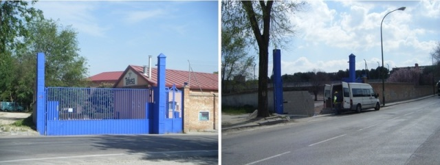Transformación de la entrada a los talleres