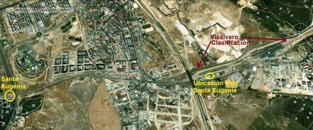 Situación de la estaciones de Santa Eugenia y Vicálvaro Clasificación