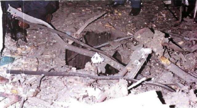 Cráter del coche 1 de Atocha