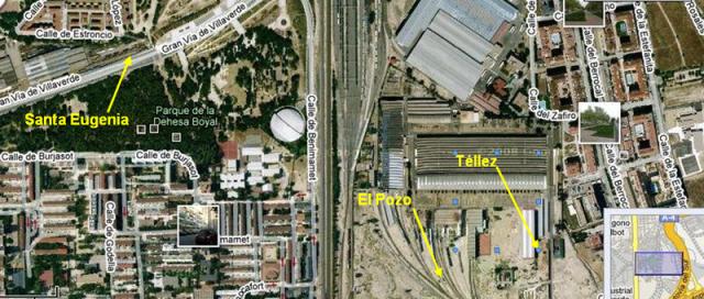 Lugares a los que se llevaron los coches de Téllez, El Pozo y Santa Eugenia