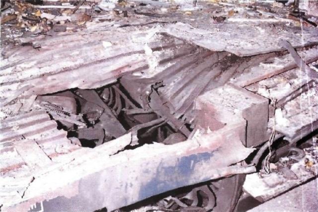 Cráter del coche 4 de Atocha