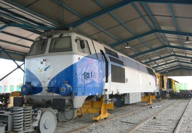 Febrero de 2006. Interior de la nave, el coche 2 de Téllez no se encuentra en ella