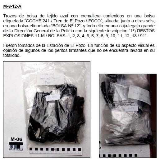 """Trozos de bolsa de tejido azul con cremallera, COCHE 241 / Tren de El Pozo/FOCO"""""""