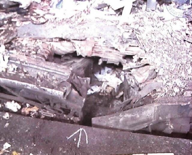 Cráter del coche 6 de Atocha